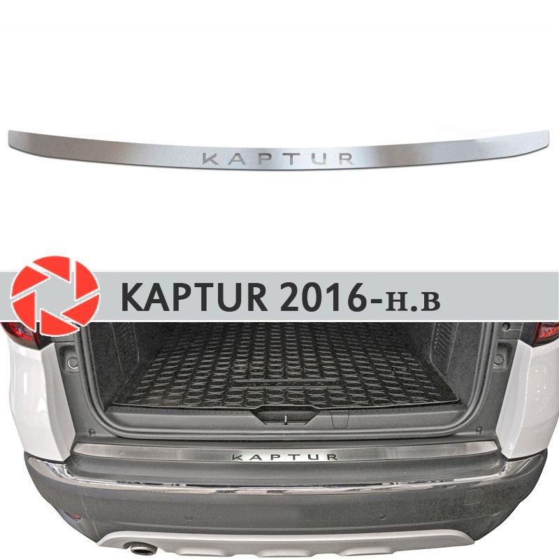 Platte abdeckung hinten stoßstange für Renault Kaptur 2016-2019 schutz platte auto styling dekoration zubehör form stempel