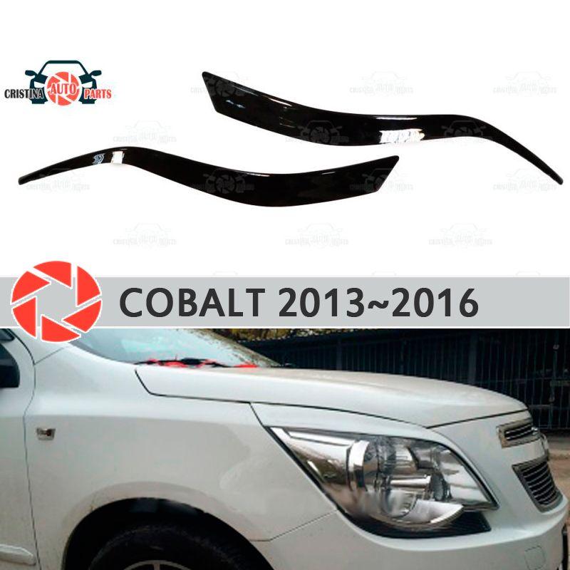 Augenbrauen für Chevrolet Cobalt 2013 ~ 2016 für scheinwerfer zilien wimpern kunststoff formteile dekoration trim abdeckungen auto styling