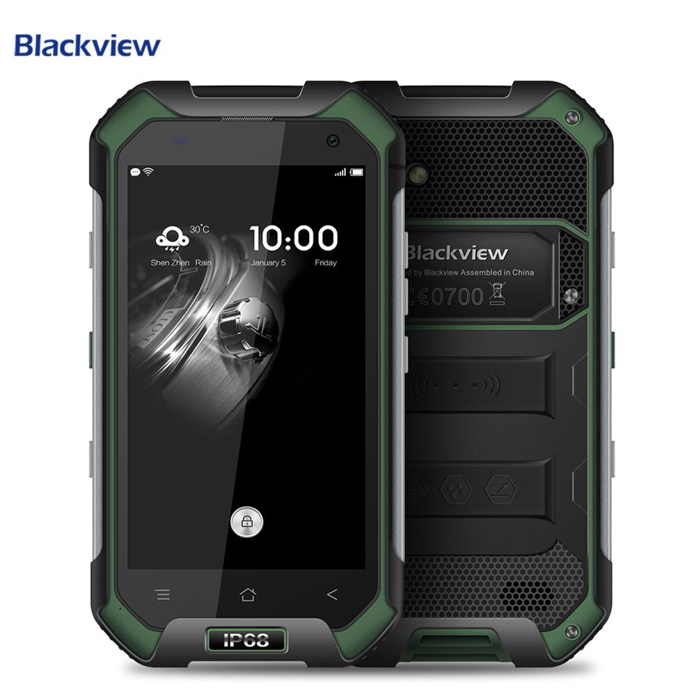 Blackview BV6000 Smartphone IP68 Waterproof 4.7 inch Screen 4G Cell Phone MTK6755 Octa Core 3G RAM 32G ROM 13.0MP Mobile Phone