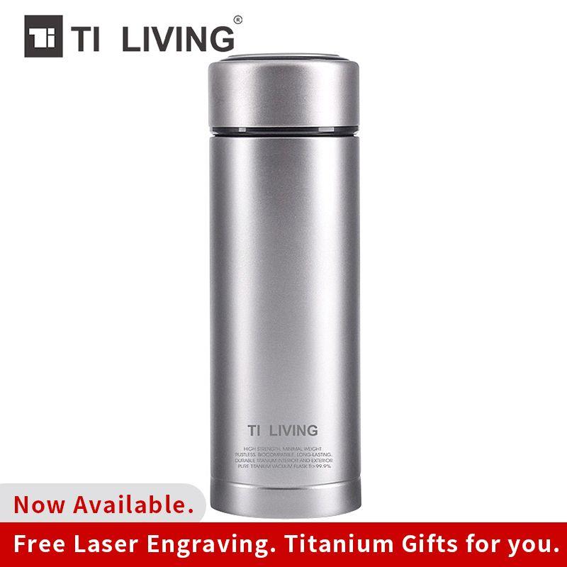 Tikungfu Titan Thermoskanne Thermoskanne Wasser Flasche Wasserkocher Drink 350 ml 450 ml Outdoor TravelOn Verkauf Freies Verschiffen Business