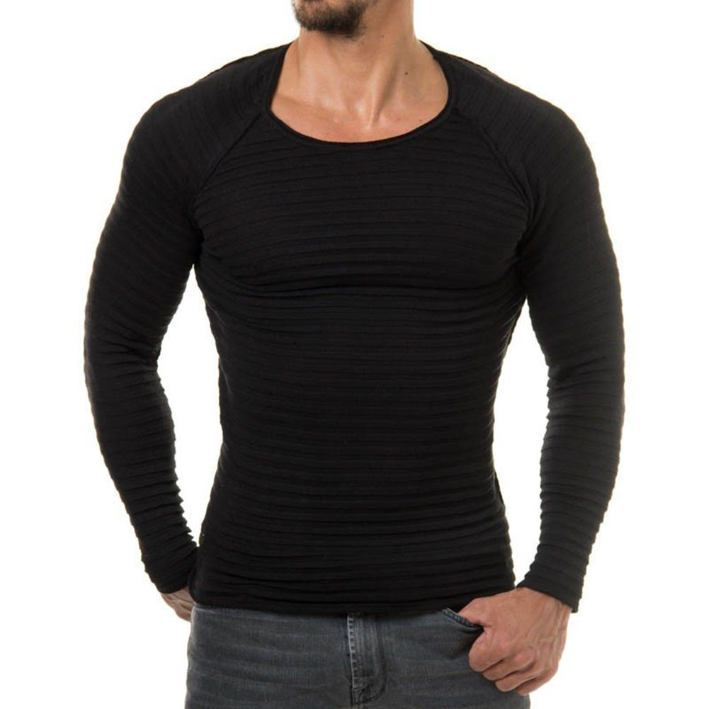 Для Мужчин's Повседневное Slim Fit круглым Средства ухода за кожей Шеи обычный Трикотаж Джемпер Пуловер базовый свитер