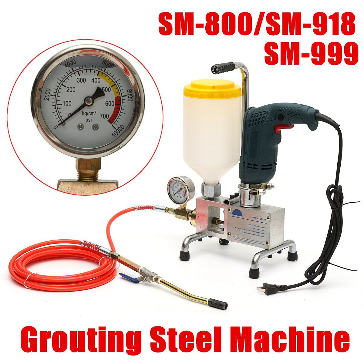 epoxy injection pump Epoxy / Polyurethane foam Grouting Machine STEEL HOSE concrete repair crack New Arrival