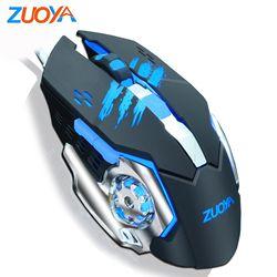Zuoya Wired Gaming Mouse Macro 3200 Dpi Dapat Disesuaikan LED Optik USB Game Mouse untuk Laptop PC Komputer Gamer