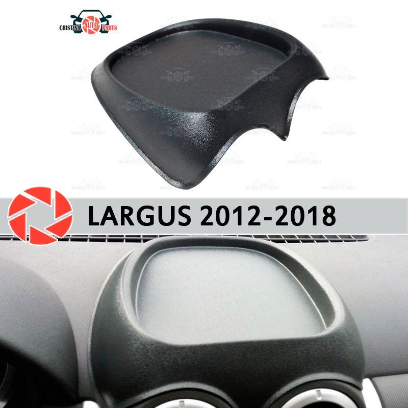 Veranstalter auf front panel konsole für Lada Largus 2012-2018 kunststoff ABS geprägte tasche auto styling zubehör dekoration