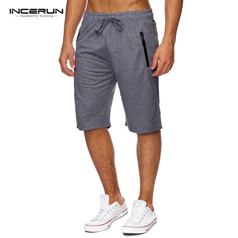 Nuevo 2018 hombres del verano rodilla de longitud Pantalones cortos casual pantalones bodybuilding gyms-ropa Pantalones cortos hombres Bermuda masculina