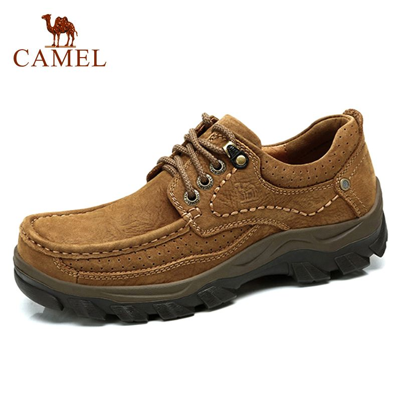 CAMEL Genuine Leather Shoes Men Brand Footwear Fashion Men's Casual Shoes Male High Quality Cowhide Suede Lace-up Men's loafers