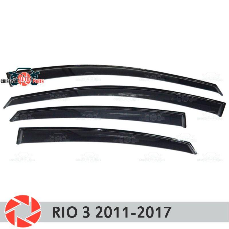 Fenster deflektor für Kia Rio 3 2011-2017 regen deflektor schmutz schutz auto styling dekoration zubehör molding
