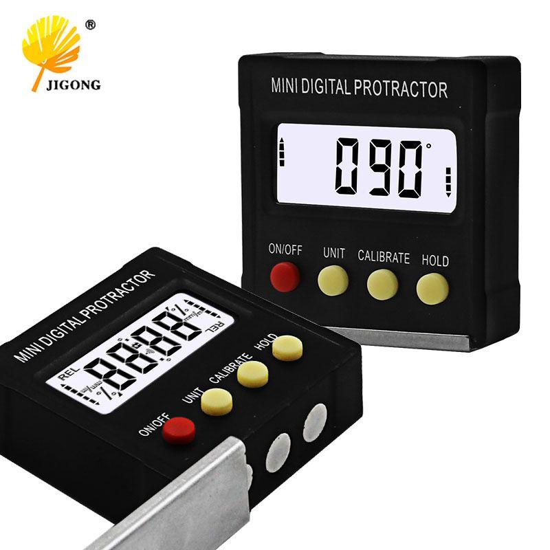 360 Degree Mini Digital Protractor Inclinometer Electronic <font><b>Level</b></font> Box Magnetic Base Measuring Tools