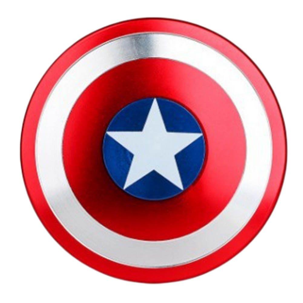 Captain America Schild Finger Spinner Hand Metall EDC Für Autismus Und ADHS Spinner Zappeln Anti Stress Spielzeug Für Erwachsene