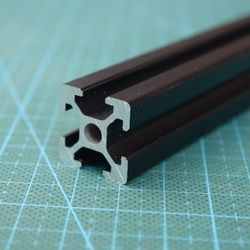 415mm 2020 Black Al profiles for HyperCube Evolution 3D Printed Parts Black color,2pcs/lot