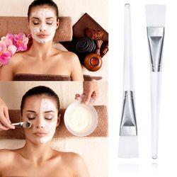 Elecool 1 Pcs Masker Sikat Putih Plastik Handle Makeup Brushes Pincel Maquiagem Lumpur Wajah Topeng Aplikator Kuas Make Up BTZ1