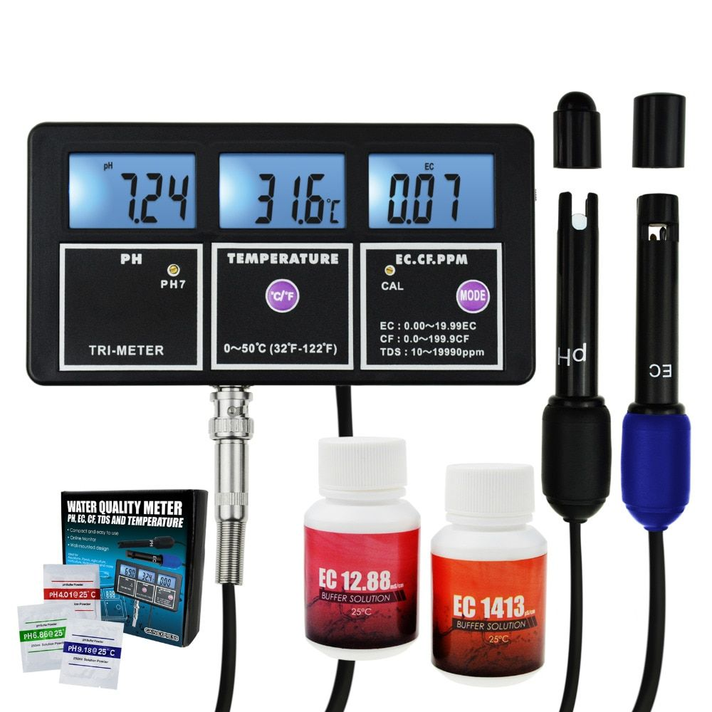 5-in-1 Wasser Qualität Multi-parameter PH EC CF TDS (ppm) temperatur Test Meter Aquarien Hydrokultur Pool Aquarium Teich Trinken