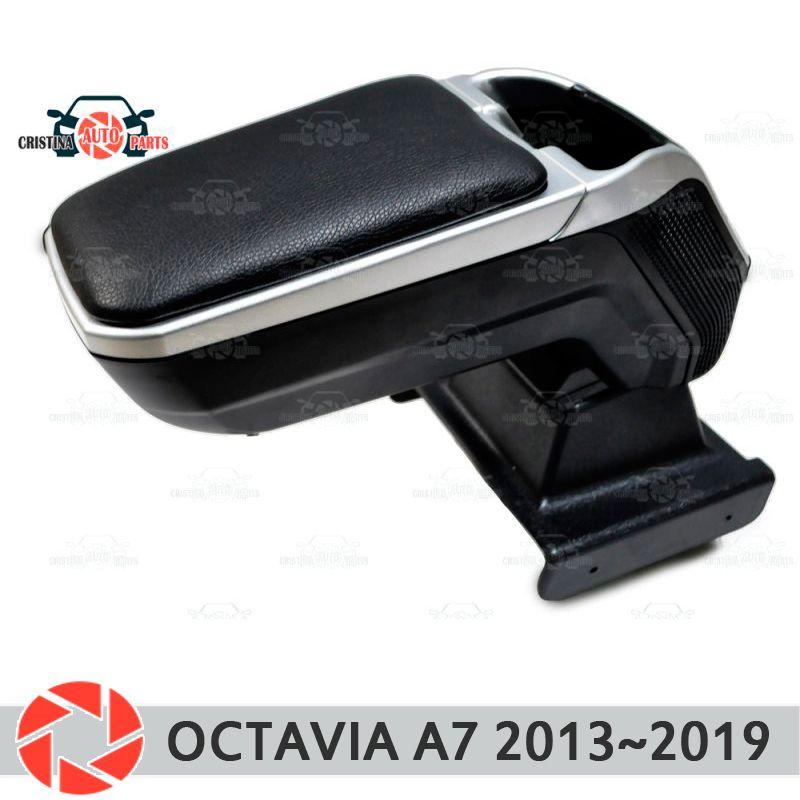 Armlehne für Skoda Octavia A7 2013 ~ 2018 auto arm rest zentrale konsole leder lagerung box aschenbecher zubehör auto styling m2