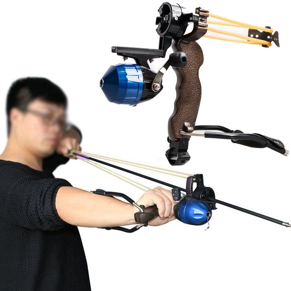 Adult Powerful Target Shooting Slingshot with Folding <font><b>Wrist</b></font> Catapult Professional Hunter Hunting Fishing Sling Shot