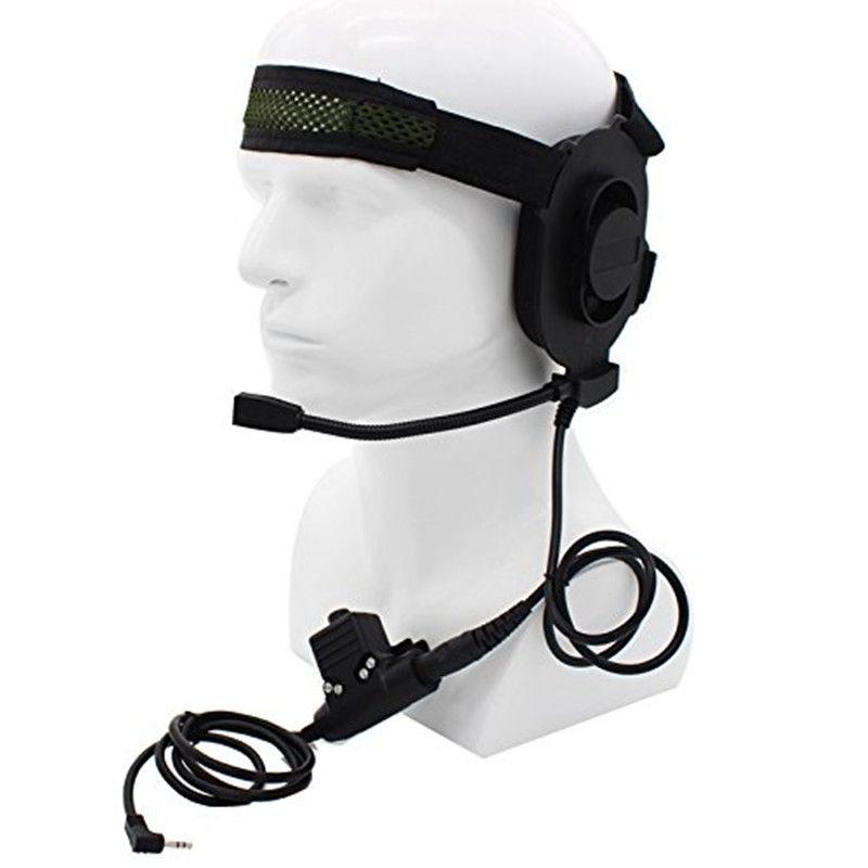 HD01 Z Tactical Bowman Elite II Radio Headset earpiece with U94 Style PTT for Kenwood Baofeng Portable Radio Walkie Talkie 2 Pin