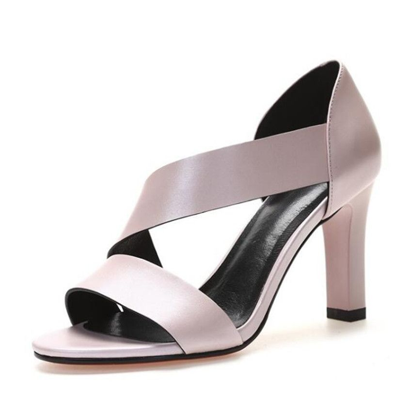 MLRCRIYG Fashion ladies sandals new style coarse and high heel <font><b>fish</b></font> mouth shallow tidal shoes