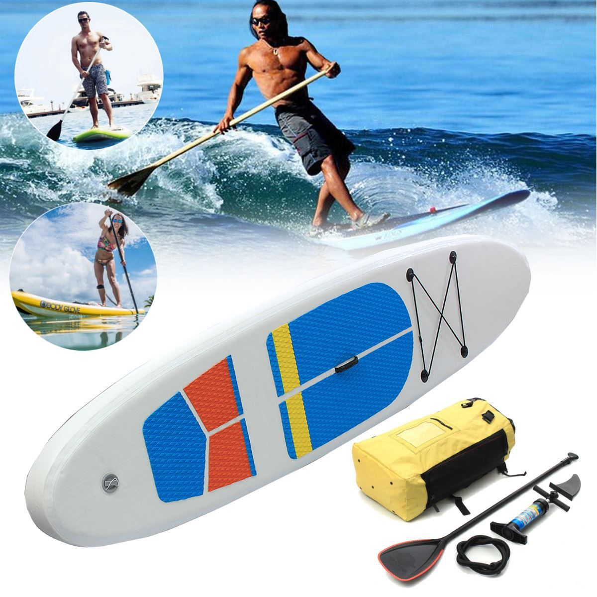 Gofun 330 * 81 * 10cm Stand Up Paddle Surfboard Inflatable Board SUP Set W ave Rider + Pump inflatable surf board paddle boat