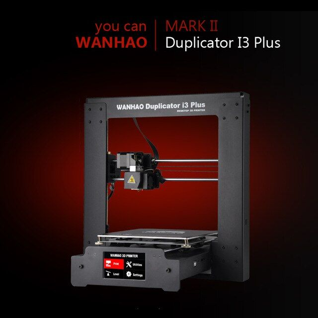 Wanhao 3D Printer Duplicator I3 PLUS 2.0 Steel Frame Desktop 3D printing (MARK II)
