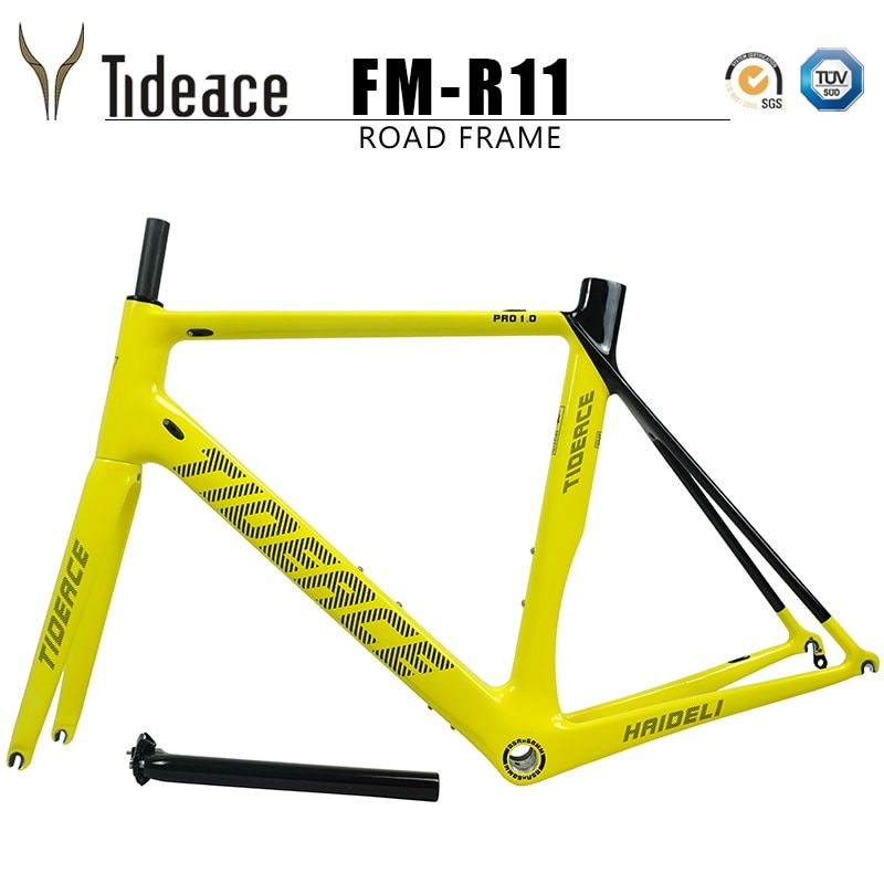 2018 Tideace carbon fiber bicycle frame road bike frame carbon super good quality racing road frameset BSA customize color