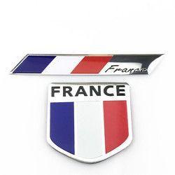 Car Styling 3D France Drapeau Emblème Badge Autocollant De Voiture Stickers Accessoires Pour Peugeot Citroen Renault DS De Voiture-Style