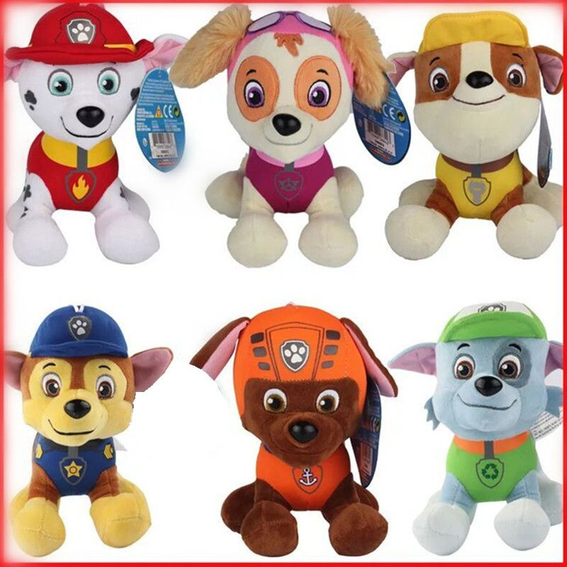 Paw dog 10cm 20cm 6color Plush toys Cotton Soft Dog Puppy Canine Plush Dolls Juguetes Canine Brinquedos TV broadcast