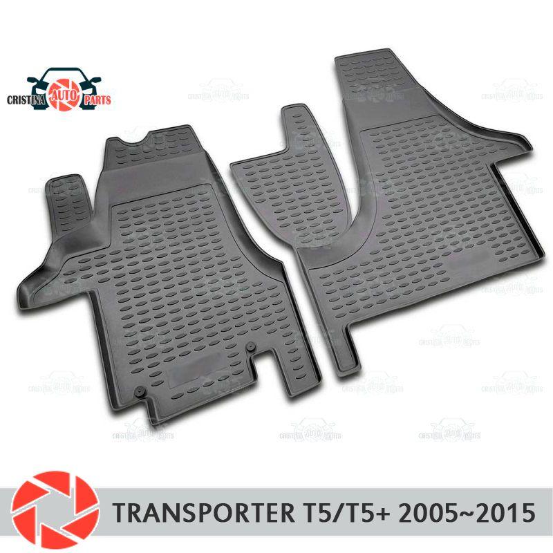 Boden matten für Volkswagen Transporter T5/T5 + 2005 ~ 2015 teppiche non slip polyurethan schmutz schutz innen auto styling