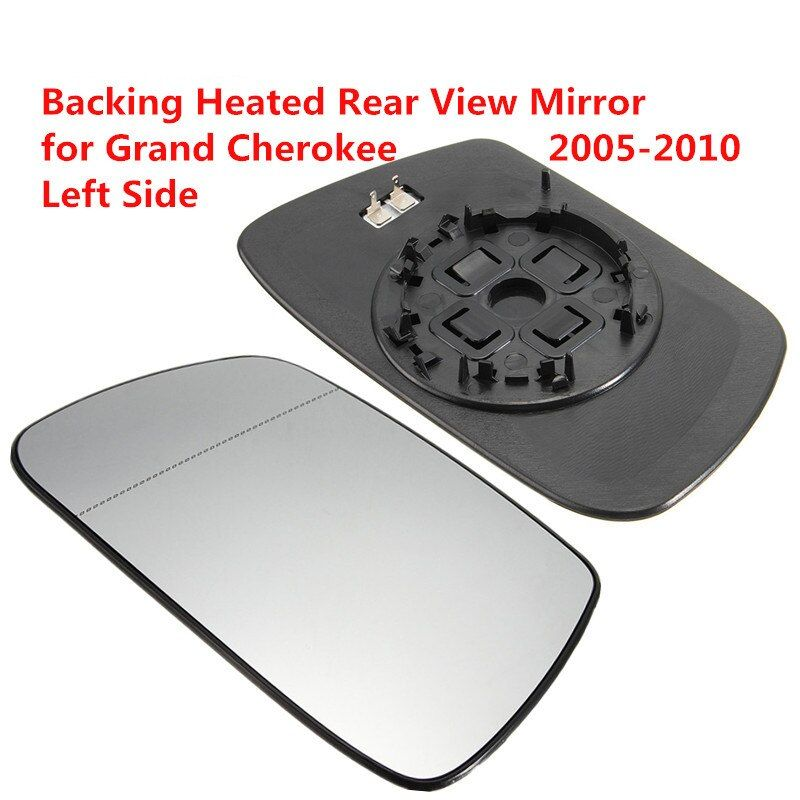 Left Driver Side Heated Rear View Mirror Car Exterior Mirrors Out Heating Rearview Mirror Glass for Jeep Grand Cherokee 05-10