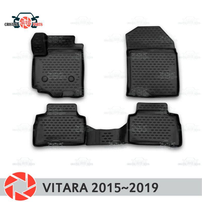 Boden matten für Suzuki Vitara 2015 ~ 2019 teppiche non slip polyurethan schmutz schutz innen auto styling zubehör