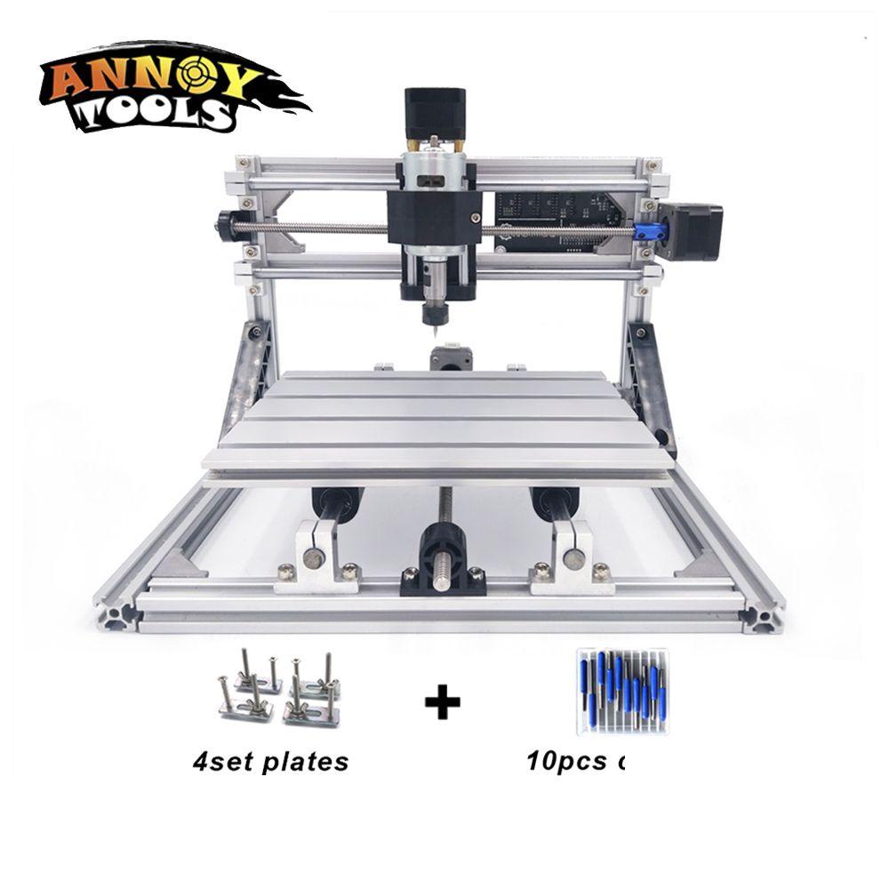 2418 CNC laser cutter laser machine de gravure 0.5 w-5.5 w CNC routeur, CNC Fraiseuse, sculpture Sur bois, laser gravure sur métal
