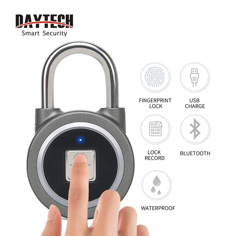 DAYTECH cadenas d'empreintes digitales Bluetooth intelligent électrique serrure de porte casier batterie Rechargeable sécurité antivol pour maison/boîte de gymnastique