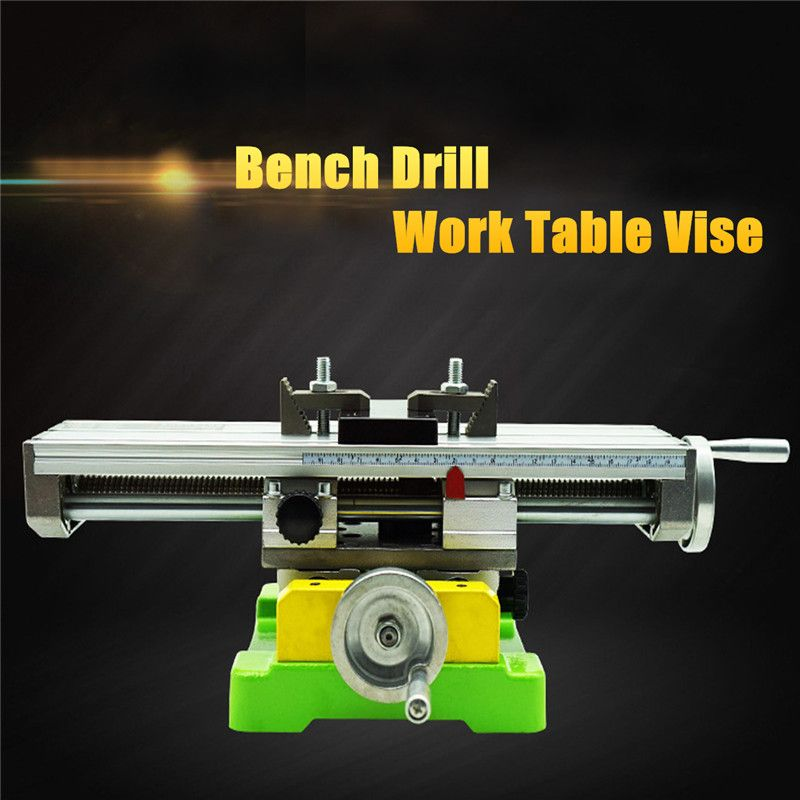 Premium Compound Cross Slide Working Table Adjustment X-Y Milling Working Cross Table 6350 Bench Drill Work Table Vise