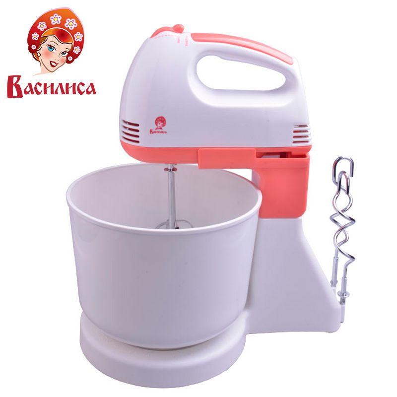 VASILISA VA-503N Mixer Schüssel Elektrische Professionelle Teig Mixer Stand Mixer Mehl Eier Brot Milchshake Mixer