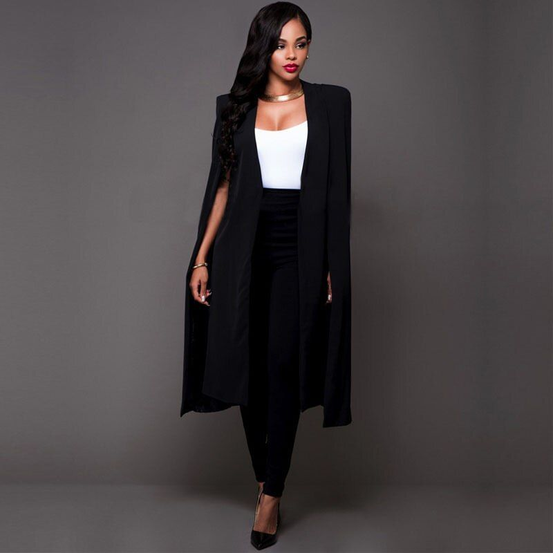 Новые модные женские туфли Офисные женские туфли длинный костюм пальто и пиджаки Элегантный Для женщин стильный длинный костюм Куртки