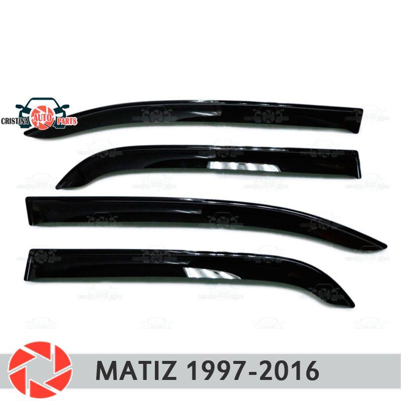 Fenster deflektor für Daewoo Matiz 1997-2018 regen deflektor schmutz schutz auto styling dekoration zubehör molding