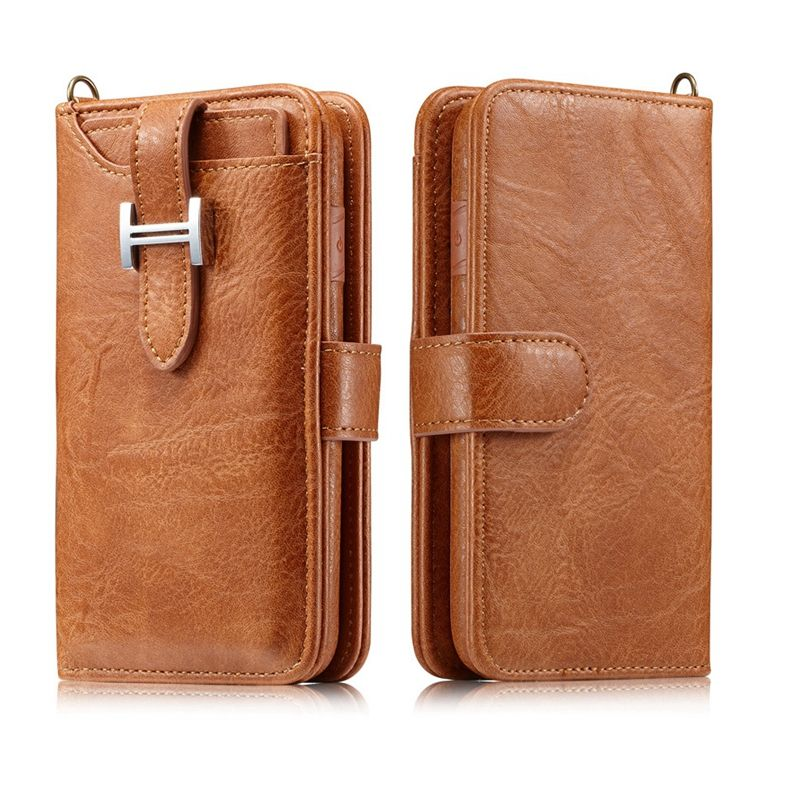 Luxury Flip Leather Phone Bag Case for iPhone 7 7 Plus 6 6S 8 X Flip Magnetic Card Slot Wallet Phone Cases for Samsung S8 Note 8