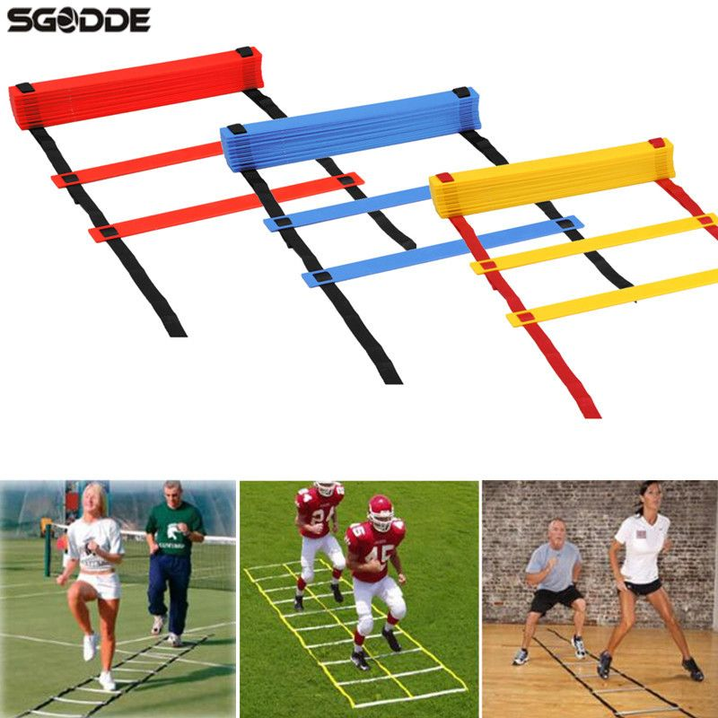 New Arrival Durable 8 Rung Agility Ladder for Soccer Football Sport Speed Feet Training With Carry Bag Outdoor Fitness Equipment