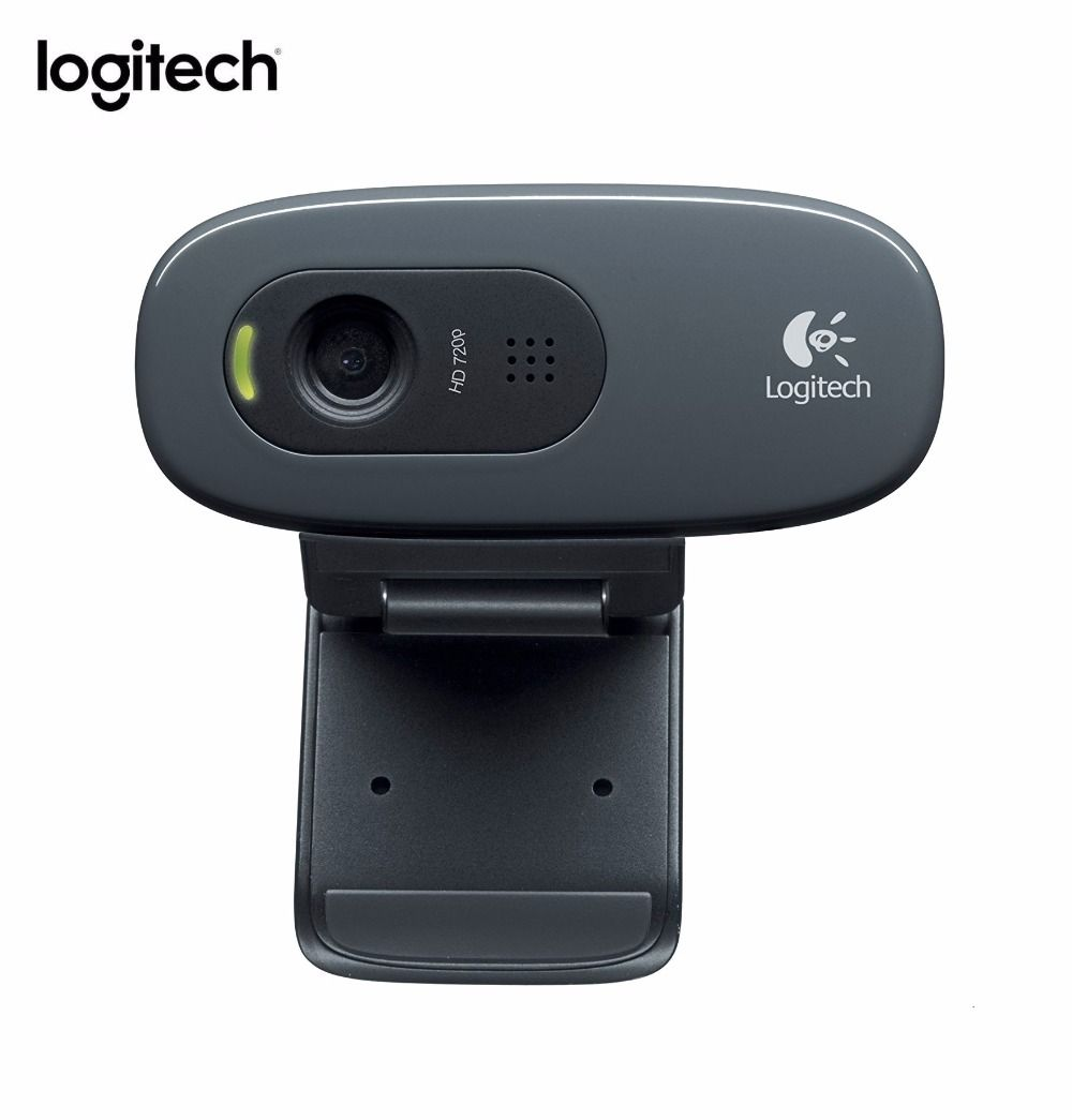 Logitech C270 HD Vid 720P Webcam Built-in Micphone USB2.0 Mini Computer Camera for PC Laptop Without Retail Box