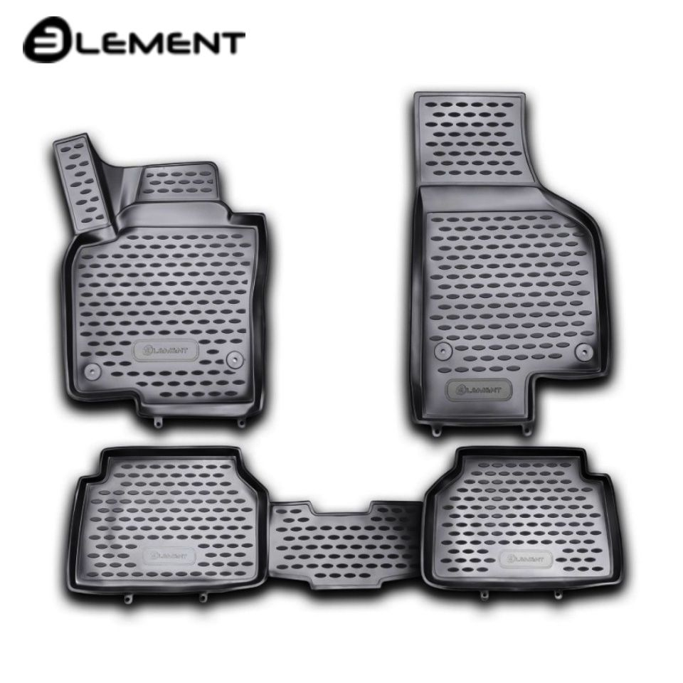 Für Volkswagen Tiguan 2008-2016 3D boden matten in saloon 4 teile/satz Element NLC3D5121210kh