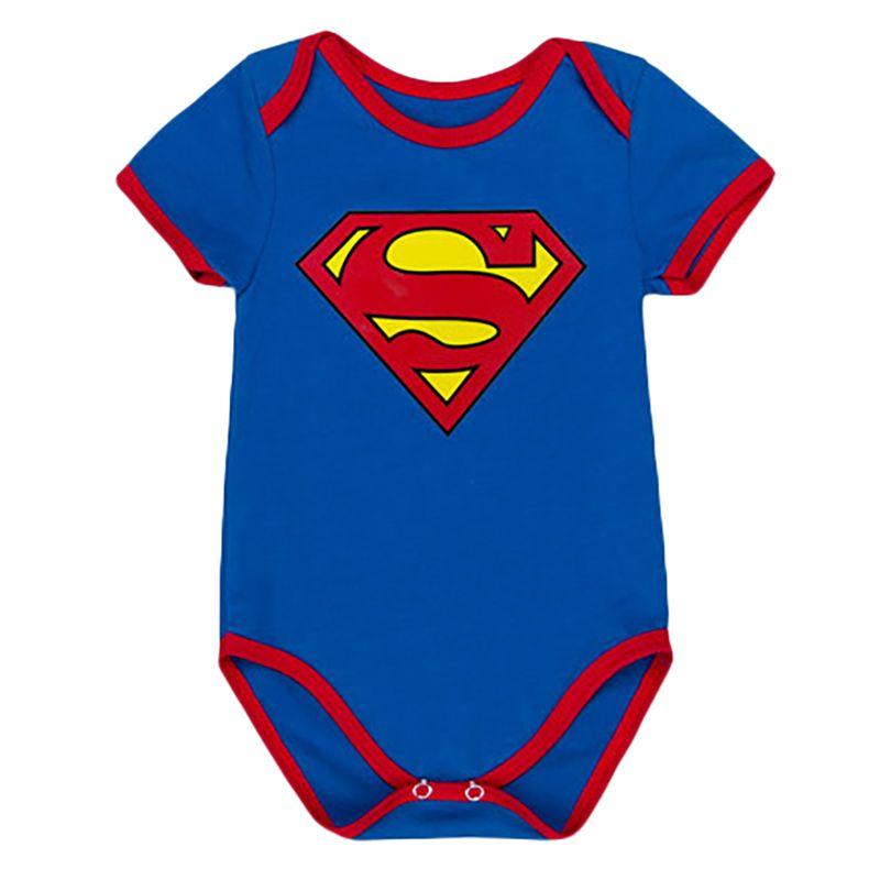 2017 Superman mameluco capa dibujos animados subir bebé Niños ropa jumpsuit Batman bebé Mamelucos bebé Niñas del mameluco del traje