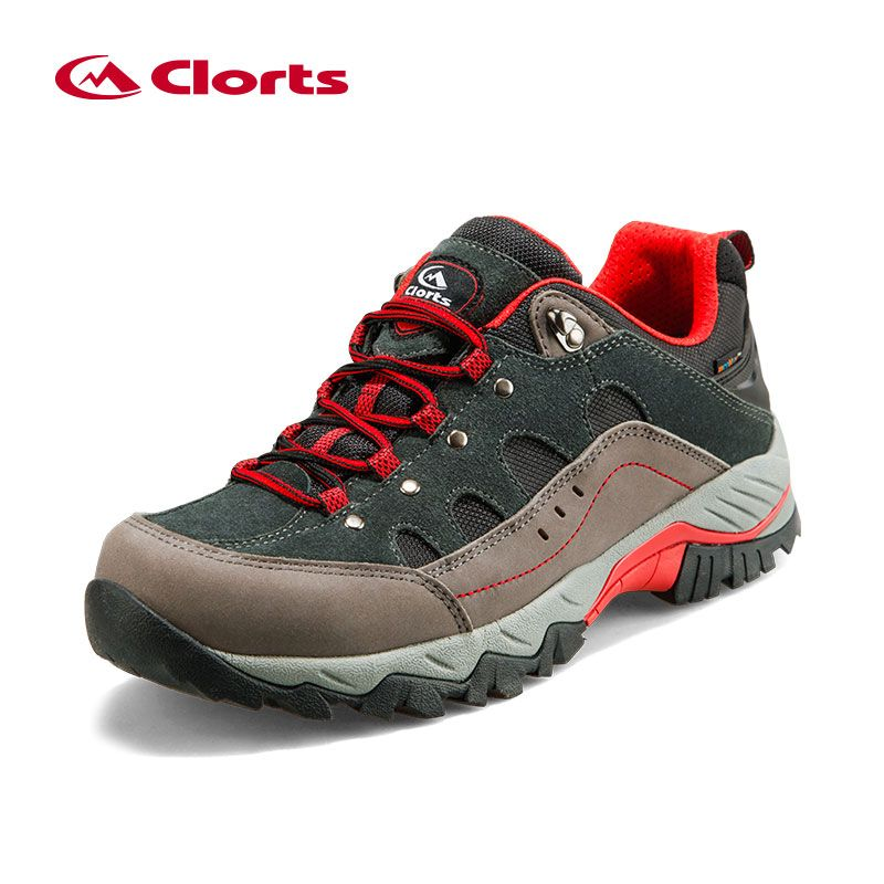 Clorts Nubuck Waterproof Hiking Shoes Track Abrasion Resistance Outsole Deodorant Breathable Insole Trekking Shoes HKL-815