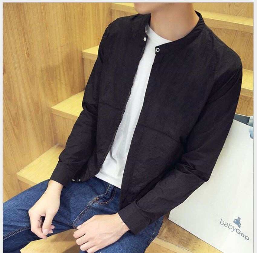 2018 new summer men's jacket thin section Korean leisure summer sun protection clothing men's jacket