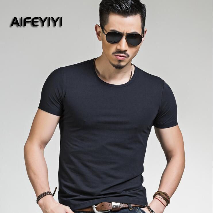 Men's cotton short-sleeved T-shirt Men's cotton Slim shirt Men's fashion round neck T-shirt