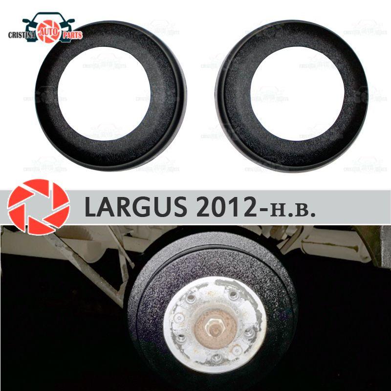Bremse trommel auskleidungen für Lada Largus 2012-2019 auto styling dekoration schutz scuff panel zubehör abdeckung bremse hinten trommeln