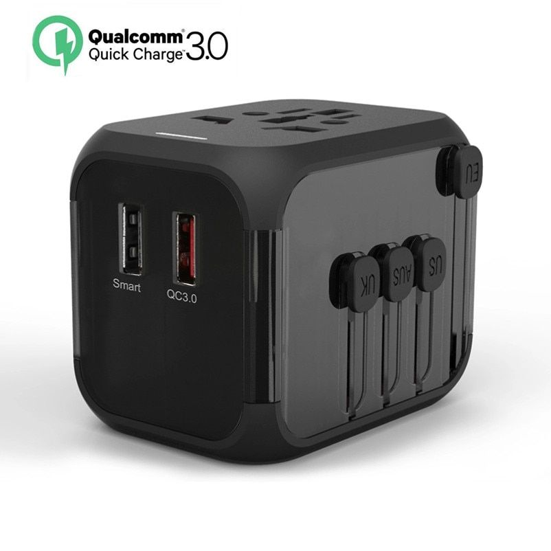 Quick Charge 3.0 18W USB Wall Charger Portable Travel Phone Charger Plug Fast AC Power Adapter Compatible Samsung, iPhone X/8/7