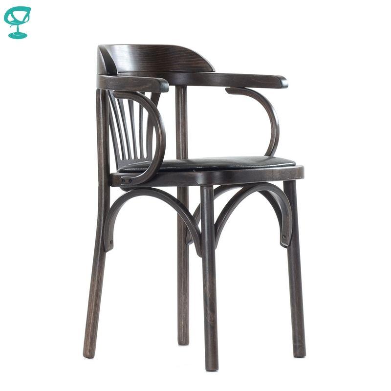 2122 Barneo Wiener holz stuhl weichen sitz abendessen Stuhl Innen Hocker Stuhl Küche Möbel Wenge kostenloser versand in Russland