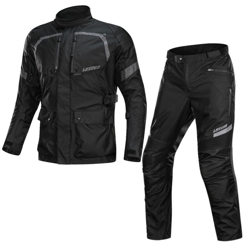 Motorcycle Cold-proof Waterproof Jacket RainProof Mens Motocross Touring Adventure Suit Motorcycle Pants with Warm Liner CE Pads