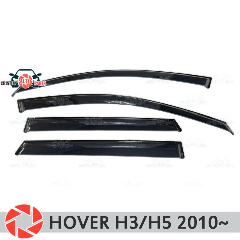 Fenster deflektor für Mauer-schwebeflug H3/H5 2010 ~ regen deflektor schmutz schutz auto styling dekoration zubehör molding