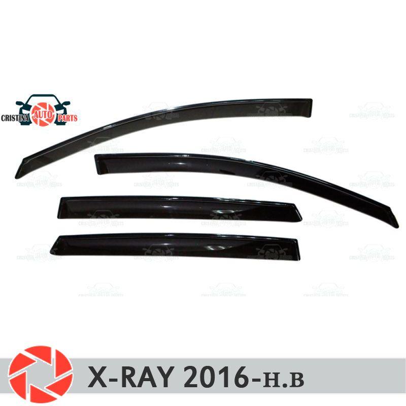 Fenster deflektor für Lada X-Ray 2016-regen deflektor schmutz schutz auto styling dekoration zubehör molding