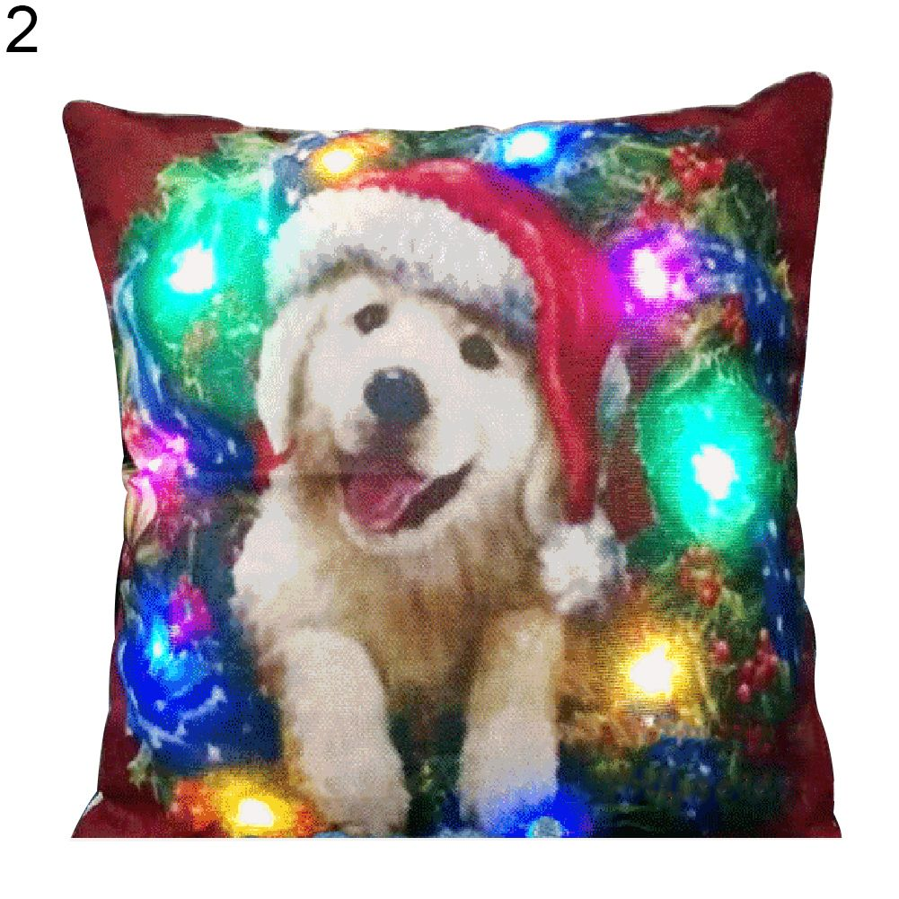 BLUELANS de Colores Ilumina la Navidad Santa Claus Cubierta Decorativa Casera Fundas de Almohada