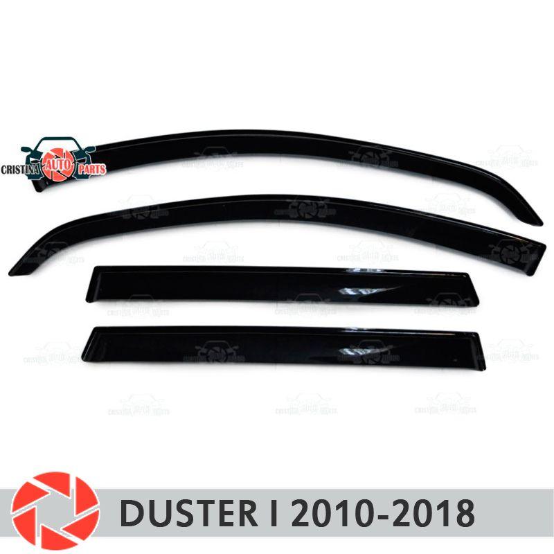 Fenster deflektor für Renault Duster ICH 2010-2018 regen deflektor schmutz schutz auto styling dekoration zubehör molding